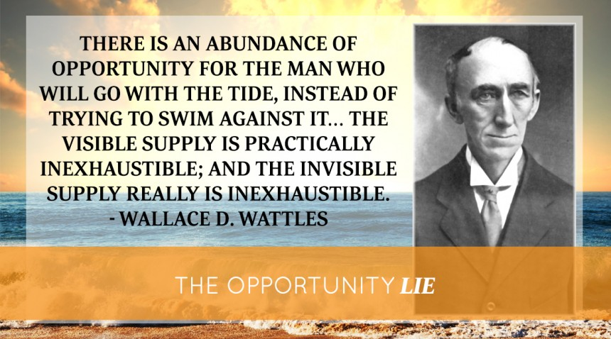 The Opportunity Lie