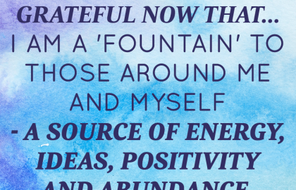 May 2014 Affirmation of the Month