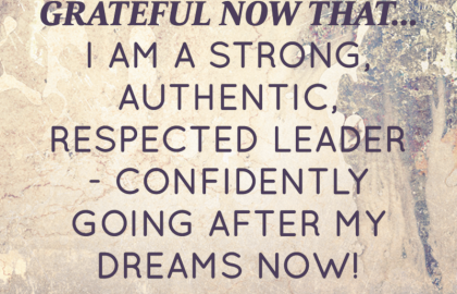 July 2014 Affirmation of the Month