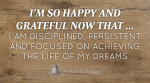 August 2015 Affirmation of the Month