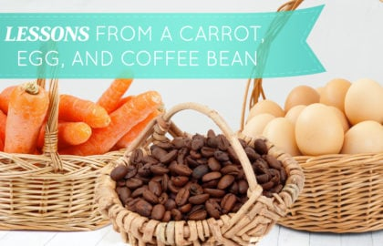Lessons From a Carrot, Egg, and Coffee Bean