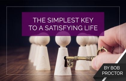 The Simplest Key to a Satisfying Life